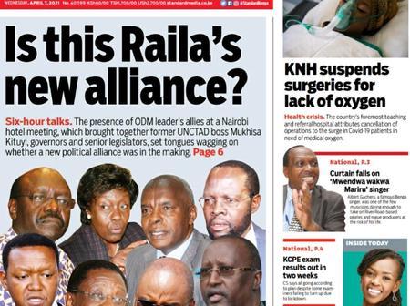 New Twist As Ngilu, Mutua, Kituyi and Kibwana Secretly Meets Raila's Key Men, Agenda Revealed