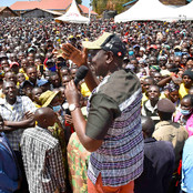 Heroic Welcome! Kitale Residents Come Out In Large Numbers To Welcome DP Ruto