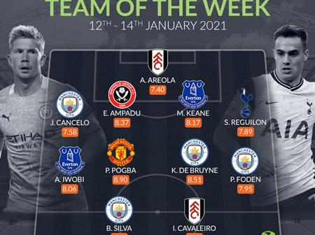 One Man United Star Is Named In EPL Team Of The Mid-Week