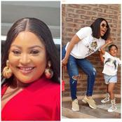 Actress Uche Elendu Poses In Lovely Photos With Her Daughter,