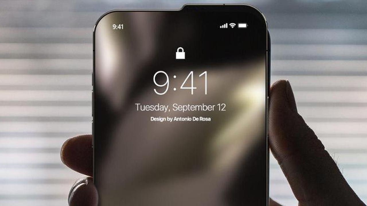 iPhone concept shows an unusual notch design