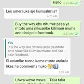 Leaked Screenshots of a Chat Between a Comedian Who Fathered and Neglected his Child and Baby Mama