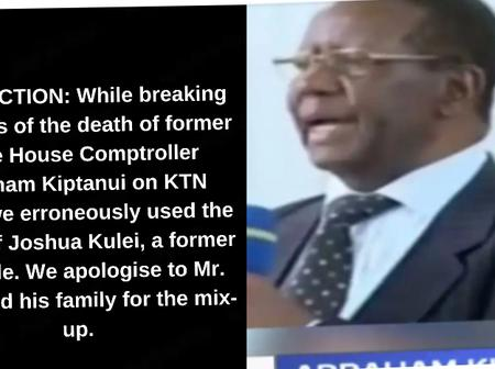 KTN News Apologises For Using Kulei's Photo While Breaking The News of The Death of Abraham Kiptanui