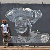 "Mixed Reactions As Man Painted The WTO Boss ""OKONJO IWEALA"" And Take Art To Another Dimension"