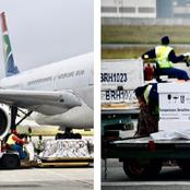 South Africa's second batch of johnson & Johnson vaccines has arrived at OR Tambo.