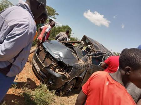 Family members involved in a road accident, 4 dead while 3 left with severe injuries