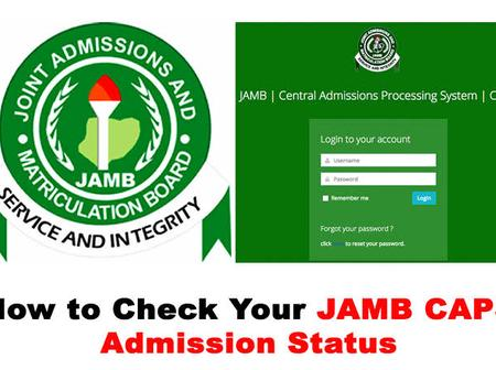 JAMB CAPS Notifications And What They Really Mean.