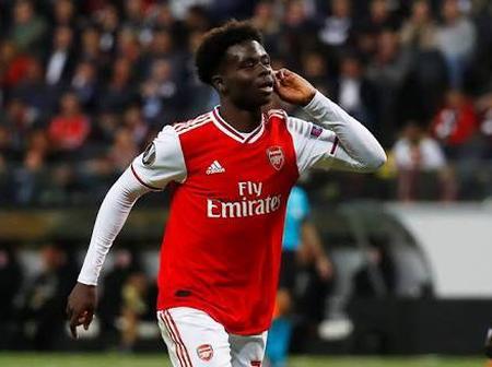 See The Great Goal Bukayo Saka scores for Arsenal Today (photos)