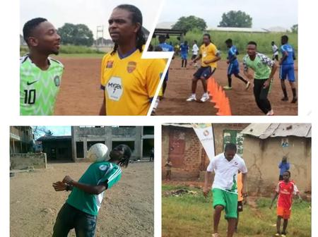 Photos Of Okocha, Kanu, Oshoala, Other Football Players On Local Fields