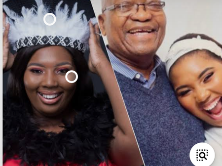 Jacob Zuma's youngest wife Laconco celebrates her son's and husbands birthday.see what she got them.