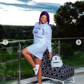 Mamkhize left fans in a frenzy with her latest pictures looking young and beautiful.
