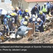 Heavy rains caused a neighbour's wall to collapse over shacks that killed 2 people