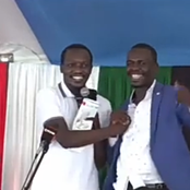 MPs Sylvanus Osoro And Simba Arati Finally Reconciles in a Funeral Event Attended by Raila (Video)