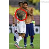 See What Is Tattooed On The Back Of A Footballer That Got Me Confused
