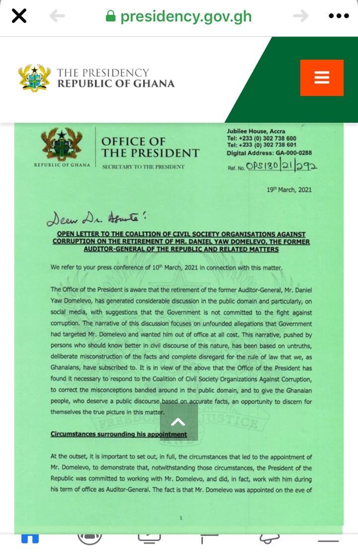 b3e7e67c17294cb4b69f7631b5fdbabf?quality=uhq&resize=720 - Former AG, Daniel Yaw Domelevo Replies Nana Addo's 21 Page Letter With A Single Word, Ghanaian React