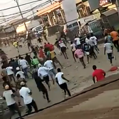Stay safe - Photos of different places with violence in Lagos during protests.
