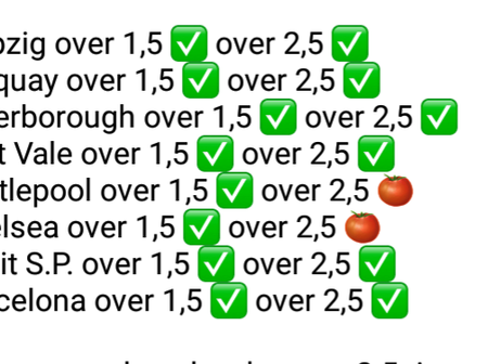 Well Analysed Tips For a Mega Win Today With a Good Odd