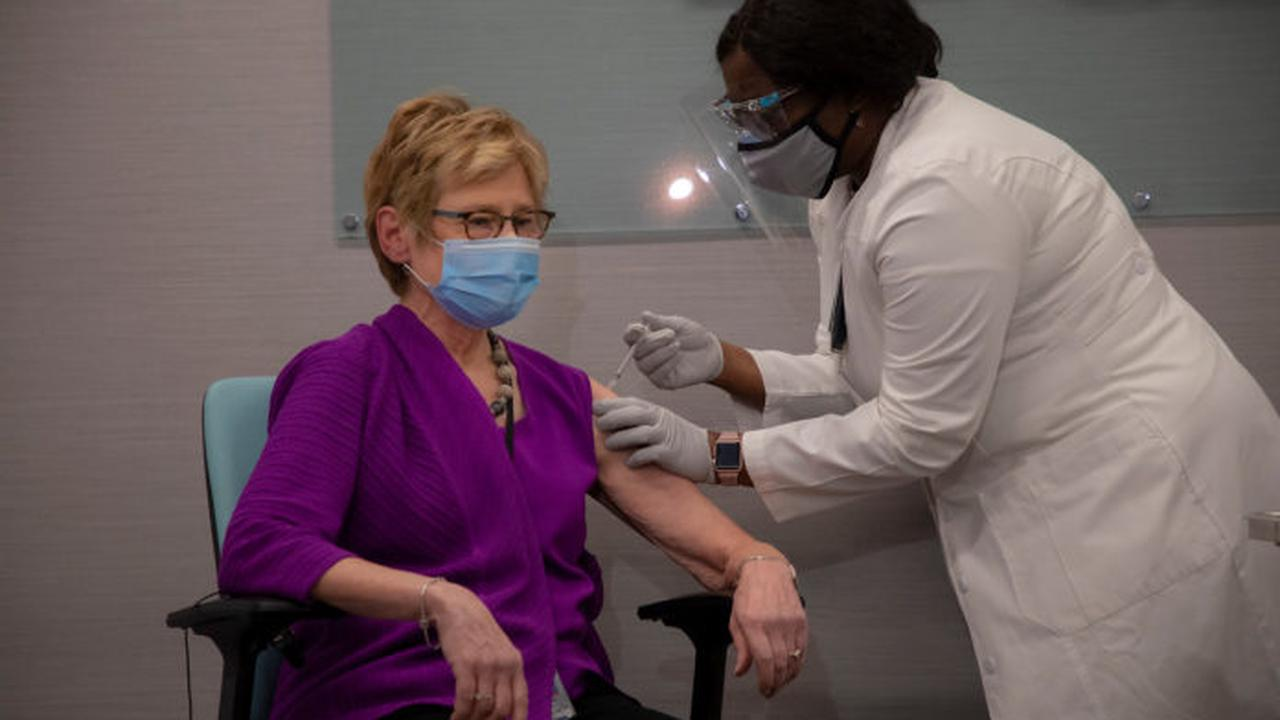 Governor in Gainesville as first nursing home workers are vaccinated