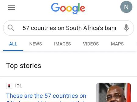 South Africa bans 57 countries from entering country