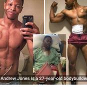 A body builder was taken to hospital for a transplant and came out with an artificial heart.