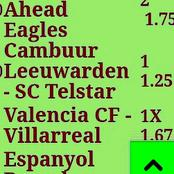 Friday Seven Correct Score(CS) Both Teams to Score & Over 2.5 Goals To On i.e Valencia, Barcelona
