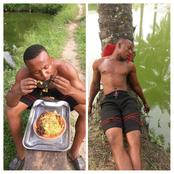 See What Happened To This Man After He ate Frog And Noodles (see photos)