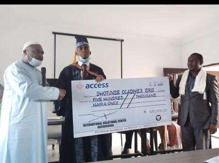 See reactions as the best graduating student in the history of LASU gets N500k