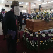 Photos : Anas Aremiyawu Anass Arrives As Kweku Baako's Mother Is Laid To Rest