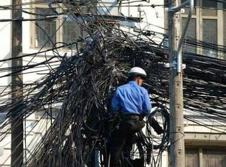 Disaster in Waiting: Can You Live in a Town with this Kind of Electric Power Supply? (photos)
