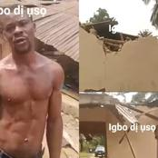 Two brothers demolished their respective houses because of misunderstanding