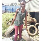 Story Of A Young Lady Who Makes Money From Tyres.