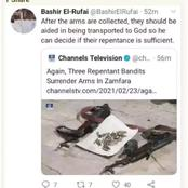 Read What El-Rufai's Son Said After 3 Repentant Bandits Surrendered In Zamfara