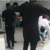 Reactions as popular actor prostrated when he met Kanayo O. Kanayo (video)