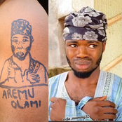 Reactions As A Fan Draws Picture Of Popular Nigerian Comedian On His Arm.