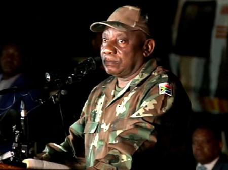 President Cyril Ramaphosa addresses the country in his capacity as the commander in chief today.