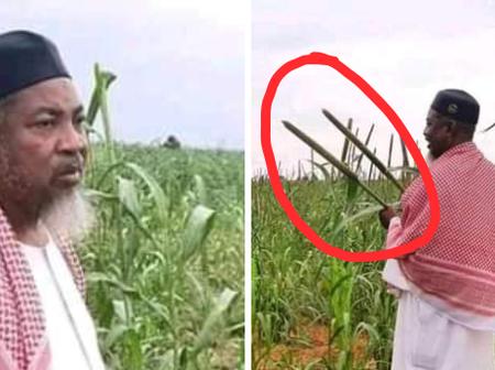 Popular Islamic Cleric, Sheik Abubakar Giro Visits His Farm In Argungu (see photos)