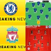 See the possible lineups for Chelsea and Liverpool ahead their meeting