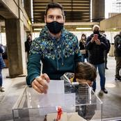 Lionel Messi votes for the first time in Barca elections (See photos)