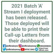 2021 Batch A stream 1 deployment has been released. Check your portal now
