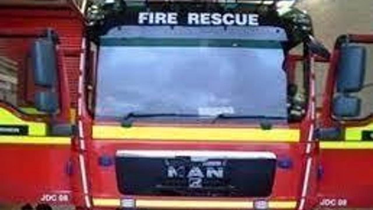 Firefighters tackle garage blaze in North Rauceby