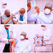 As Buhari, Osinbajo take Covid-19 Vaccine, check out what was in the paper that Buhari was holding
