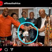 See what People Saw In A Picture As EFF Members Where Celebrating Julius Malema's 40th birthday
