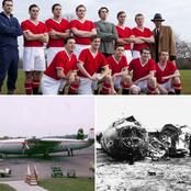 See the sad story of the 8 Manchester United players that died in a plane Crash.