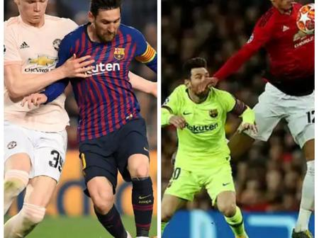 'Tell Messi I wasn't the one that elbowed him, please get me his shirt'- Man United star on Messi.