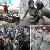 Weirdest Festival? See The Festival Where People Pay Money To Play With Mud (Photos)