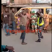 Drama as Soldier Beats up Female Police Officer in Lagos (Photos)