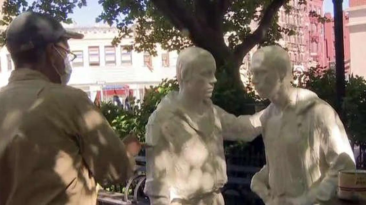 Conservation Work Done On Gay Liberation Monument In Christopher Park