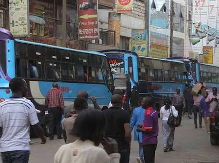 Many Kenyans Stranded In Most Of Nairobi Stages Hours After Curfew, Complain Of Messy roads