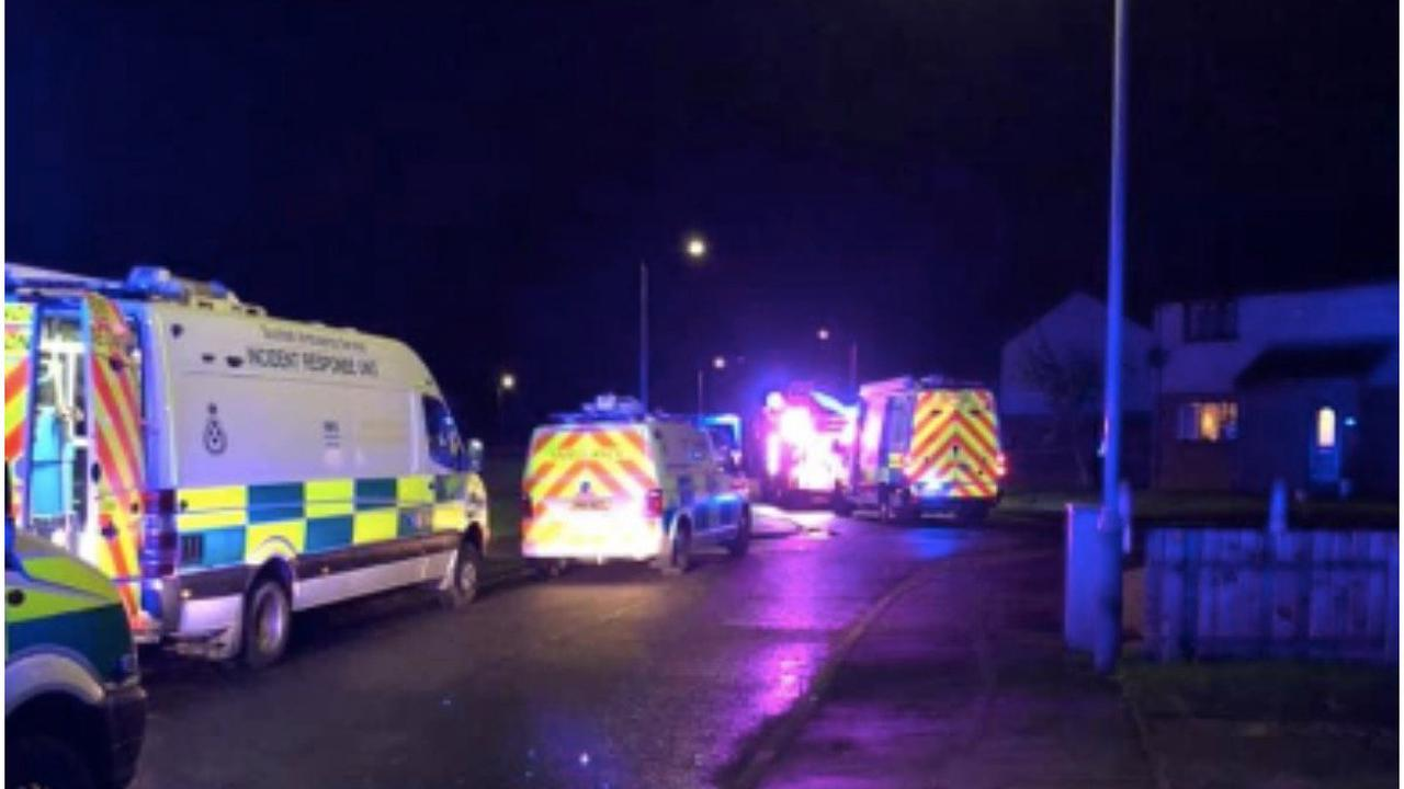 Fire crews rush to Scots street after house blaze breaks out