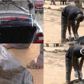 See How Dispatcher Was Caught With Two Human Heads, Enroute To Akure